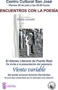 20160725 Cartel Poesía Antonio Hernández